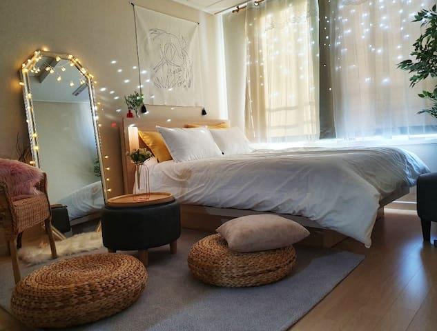 아늑하고 깔끔한 프라이빗 숙소, Cozy House. 편리한 위치, 감성있는 공간