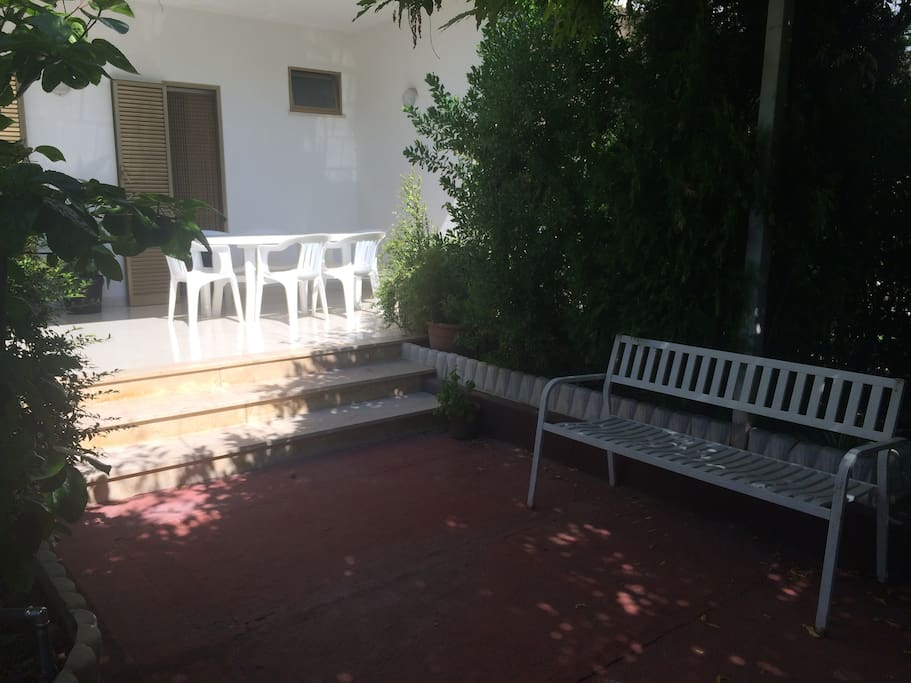 Courtyard-private parking area