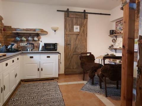 Cozy apartment with natural garden
