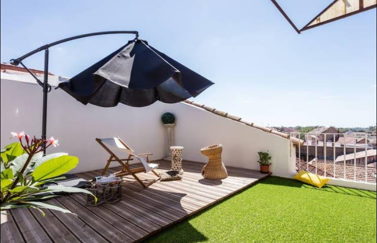 Appartement 90m² avec terasse privé et jolie vue - Béziers - Apartamento