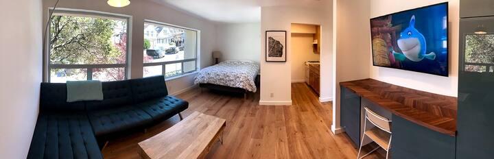 Leafy & Bright Potrero Hill Studio Loft - 欢迎华人 !