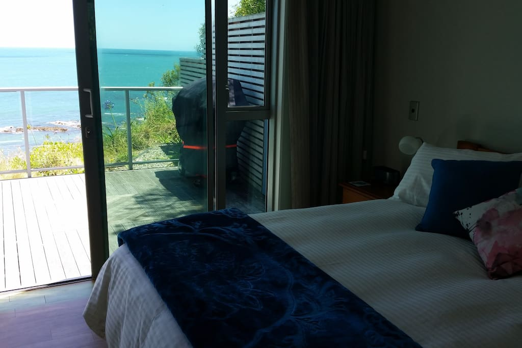 A gorgeous view of the sea from the bedroom