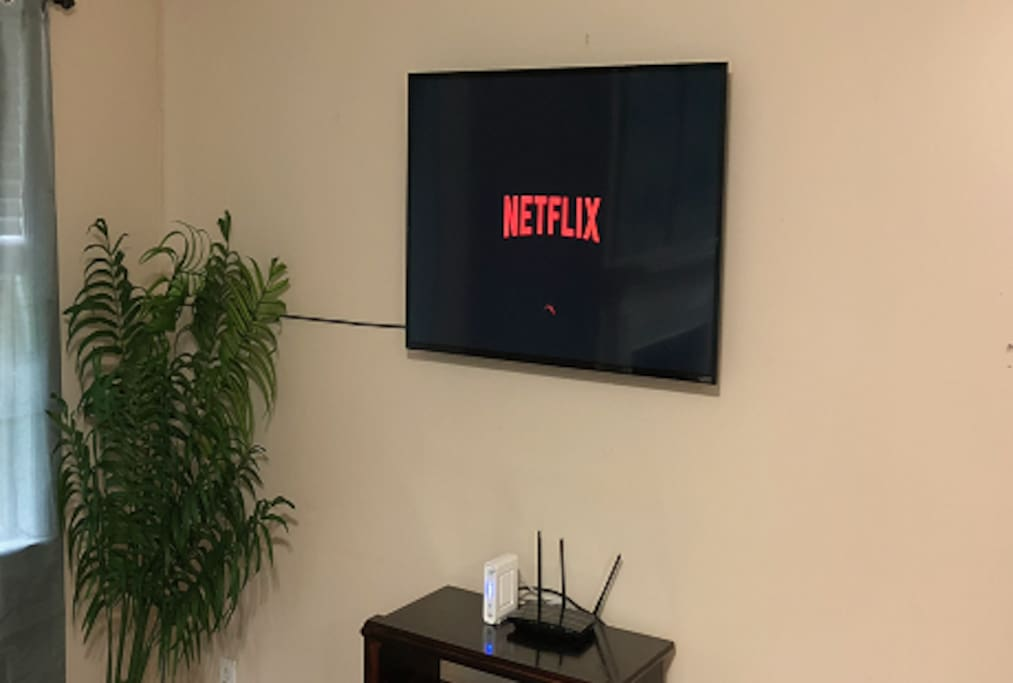 Smart TV with Netflix, Hulu, and Amazon Prime