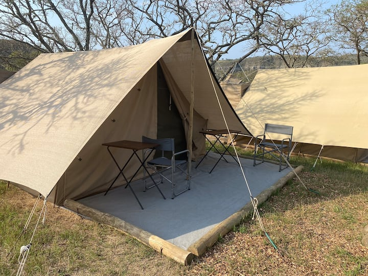 Tented camping #6 at Horseshoe Game Reserve single