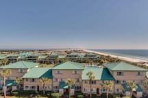 180 degree view of the Bay, Gulf, Okaloosa Island and Destin from unit 502.