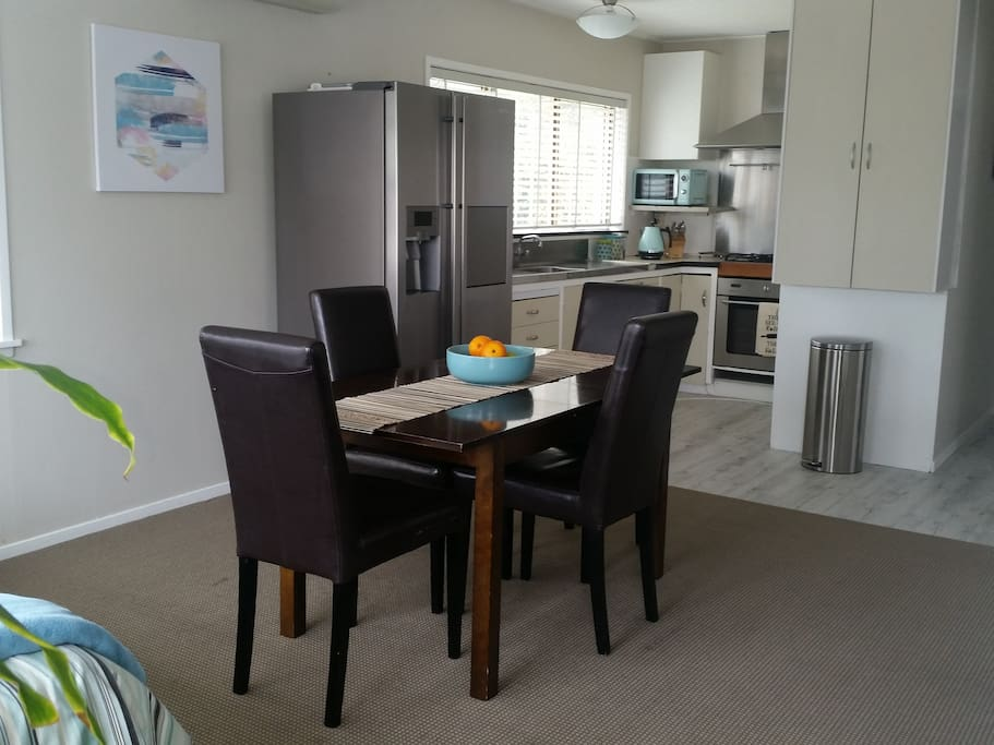 Spacious Kitchen and Dining. Large Fridge/Freezer