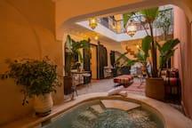 piscine et patio