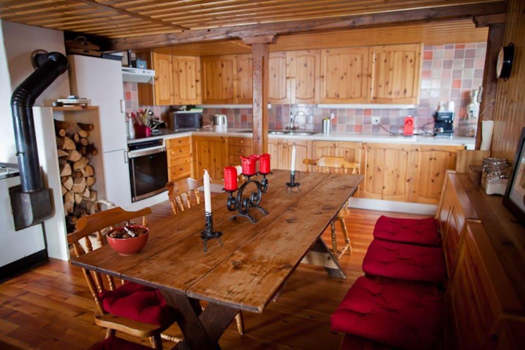 La salle à manger et cuisine