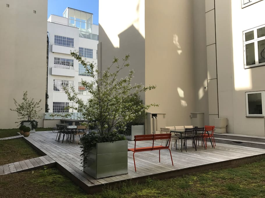 Relaxing Courtyard