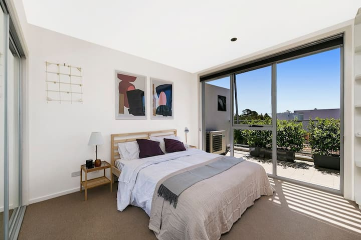 Bedroom 2 with outside view.