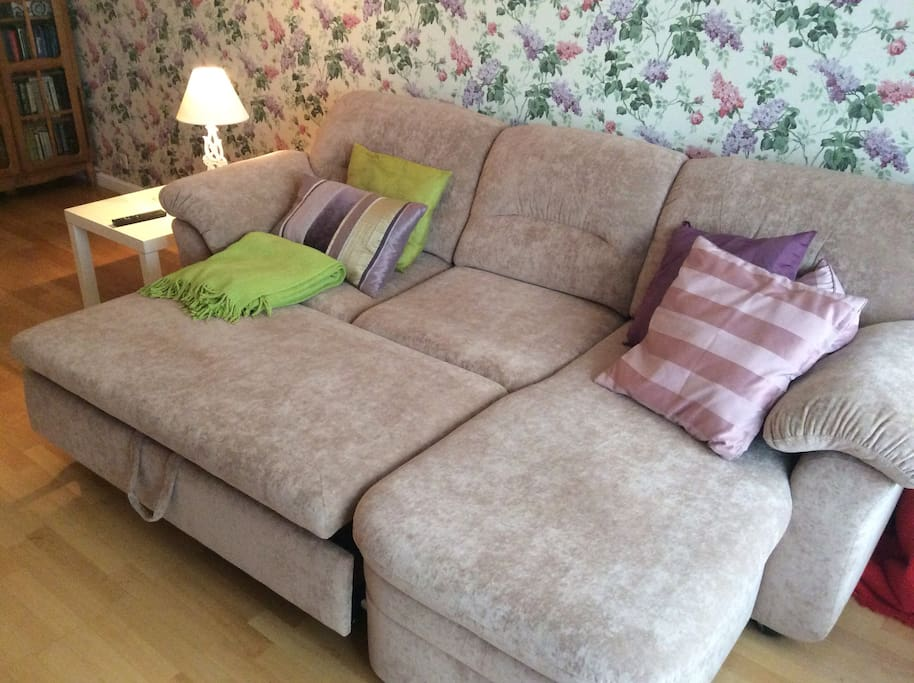 Big comfortable couch for two guests