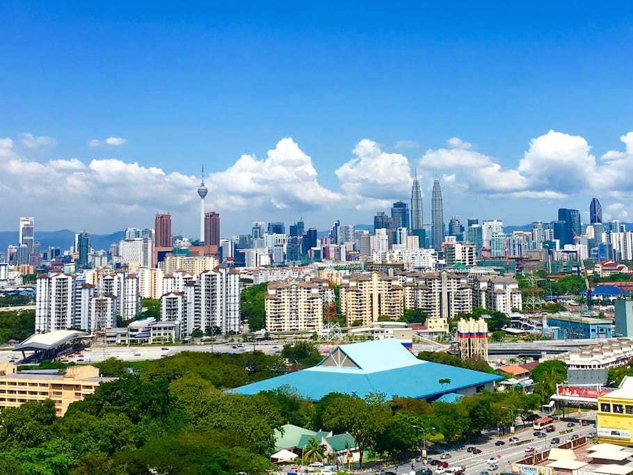 Actual photo of KL day view captured from the balcony