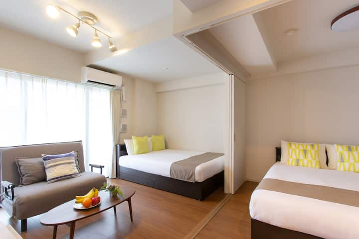 Umeda/Bedroom, dining area/WiFi/Luggage Storage
