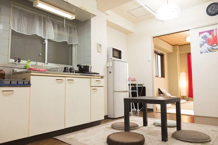 ☆ Family room ☆ Dotonbori 7min -3B - Ōsaka-shi - Wohnung