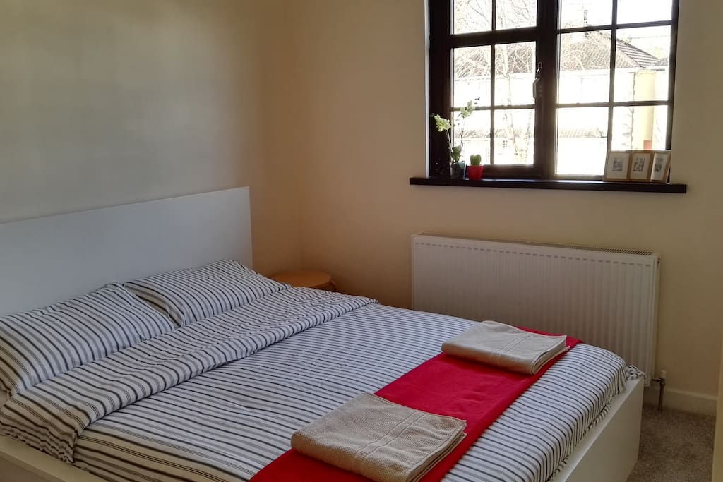 huge bed ready for two,or a family with a child !