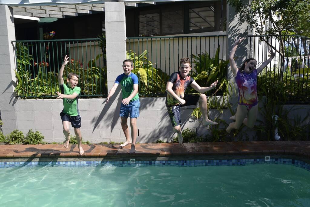 Kiwi cousins insisting that we swim in freezing cold September!