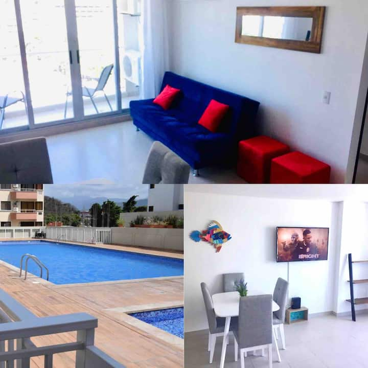 Beautiful and well equipped apartment in Rodadero!