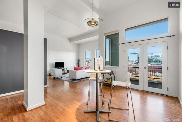 Private LoHi Loft, skyline view, month to month
