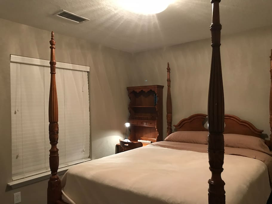 The guest's room with a queen bed on the 2nd floor
