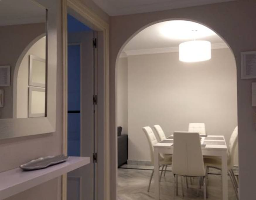 View to the dining room from entrance