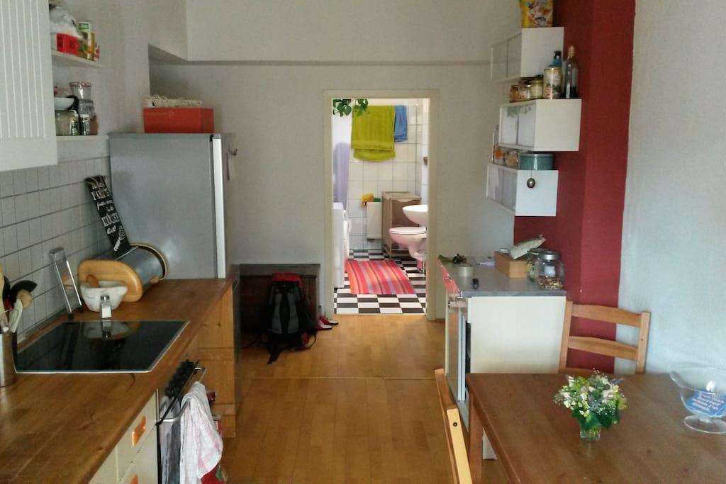 Küche, Aufenthaltsraum, Bad