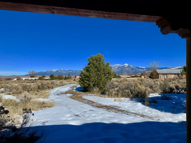 """""""The Brush and the Pen"""" Taos Artist's Cottage"""