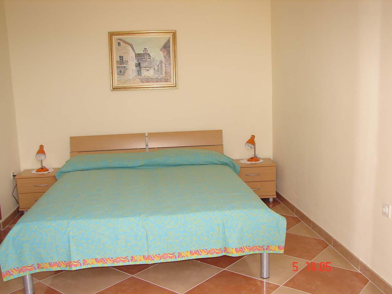 Spacious apartment,  on the first floor, composed of: bedroom with one double and one single bed , bathroom,   kitchen with dining area,  balcony. Grill  and dining area in the garden. Located in the quiet area, close to beach and to village center.