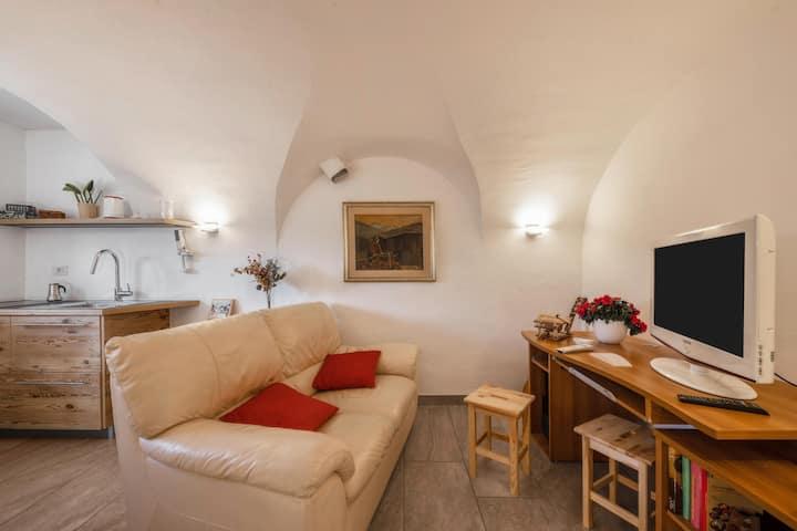 Apartment Mariagrazia mit Bergblick, Garten und türkischem Bad; Parkplätze vorhanden