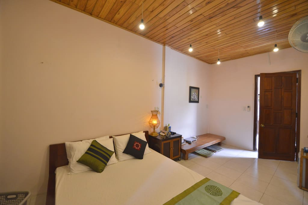 Rooms are fully equipped mini refrigerator, air-con, fan, HD cable TV, optical Wifi, private wooden wardrobe, iron, hair dryer