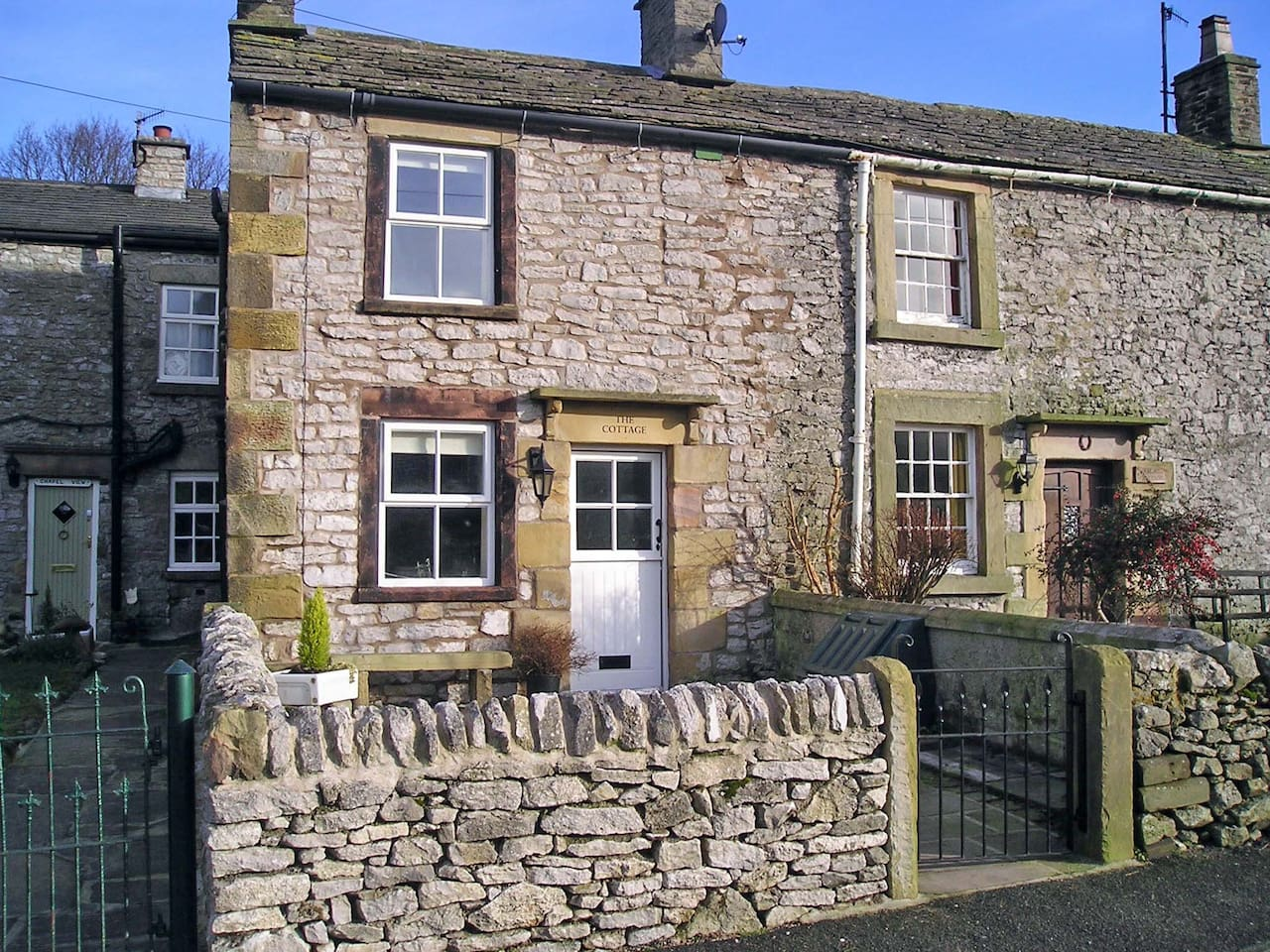 The Cottage is built with traditional, local stone.