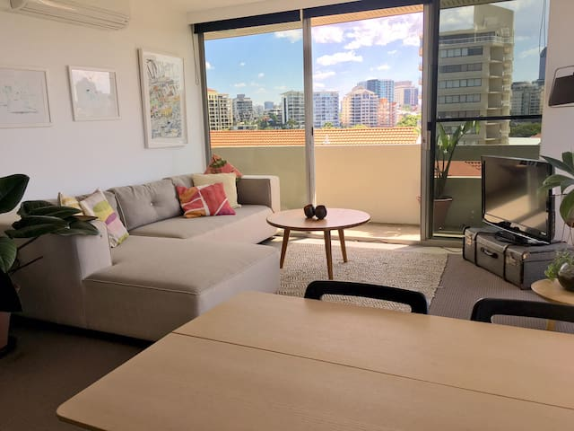 Light filled 2bed with amazing view - New Farm - Apartemen