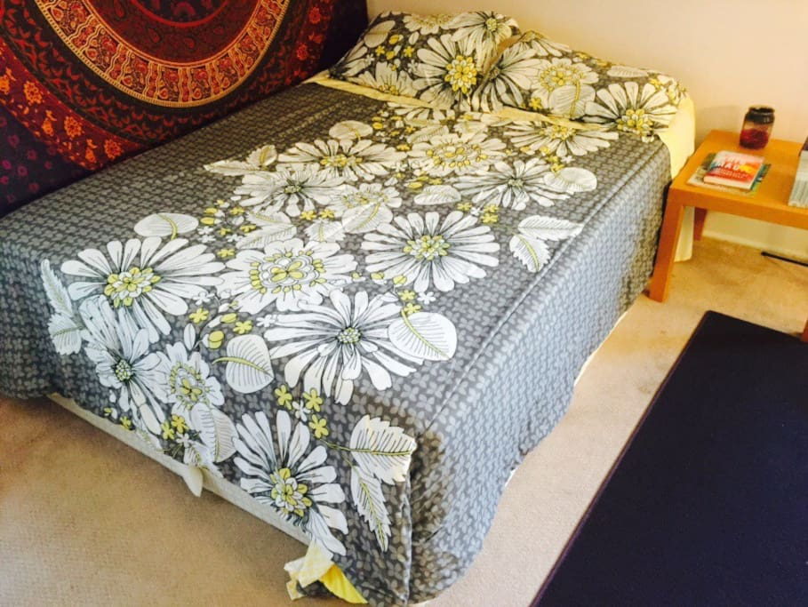 Comfy bed with memory foam mattress top