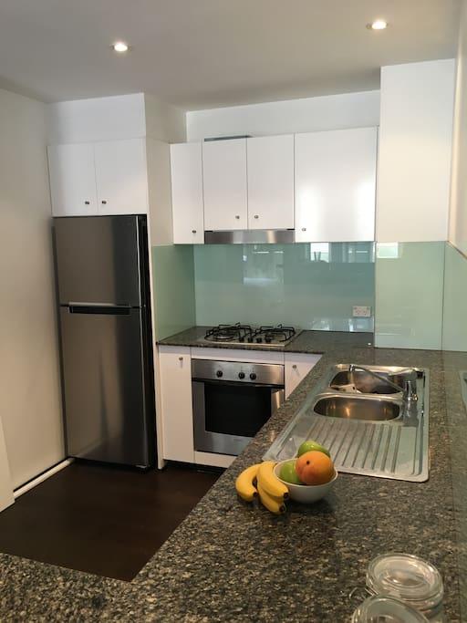 Modern Kitchen, Stainless steel appliances