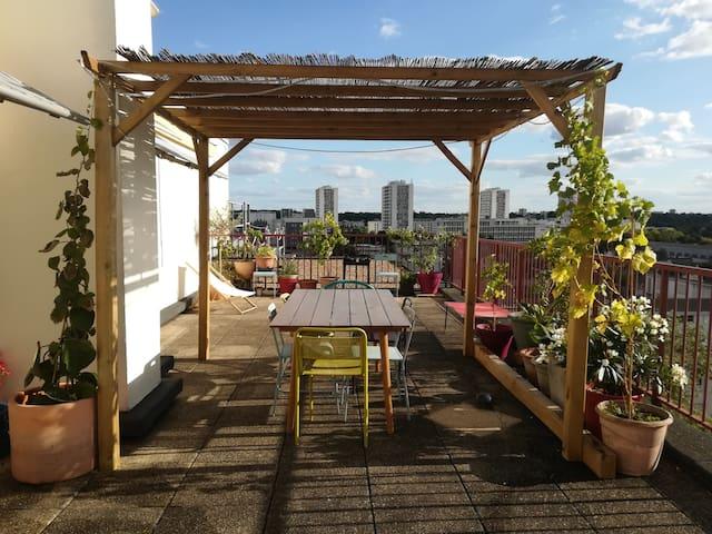 Rooftop 70m2 avec grandes terrasses !
