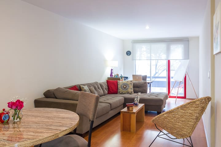 Cozy, beautiful bedroom near Reforma - เม็กซิโกซิตี้ - อพาร์ทเมนท์