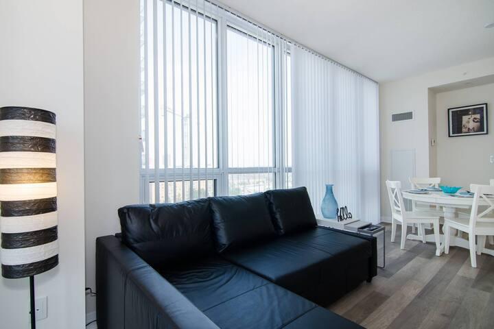 Living Area walkout to Balcony