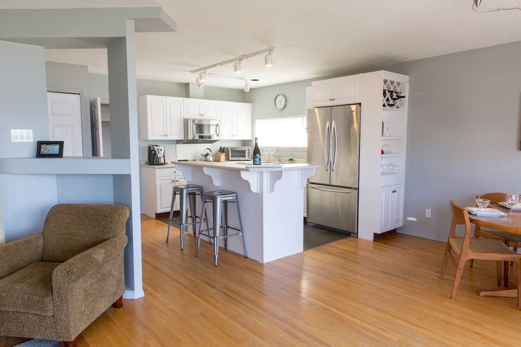 Open concept with island