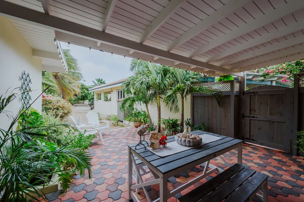 Relax on the patio or in your private garden