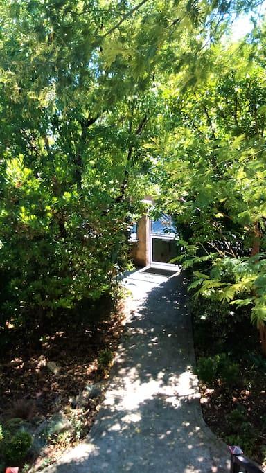 Entry into the garden.