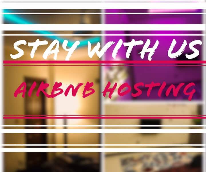 Bright Stylish apartment 1BHK |Wifi | Free parking
