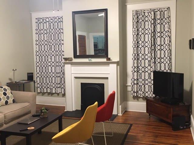 Midtown Suite: Historic charm, Modern convenience.