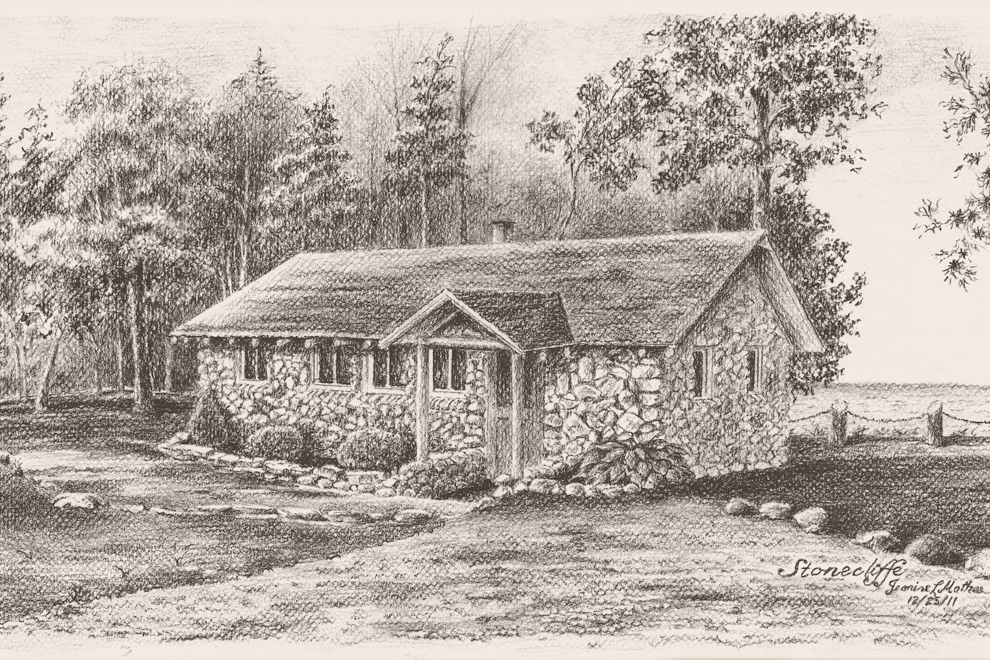 You know a place is special when it inspires fine art.  Artist:  Jeanine L. Mathes; drawn 12/25/11.