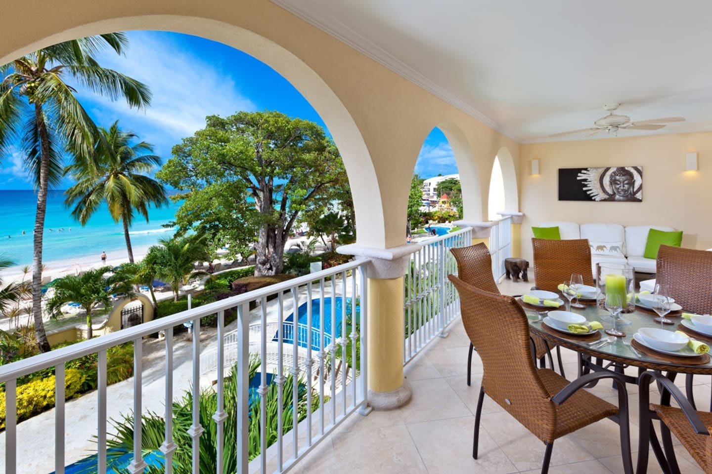 Take full advantage of this incredible view from your private terrace with lounge and dining space