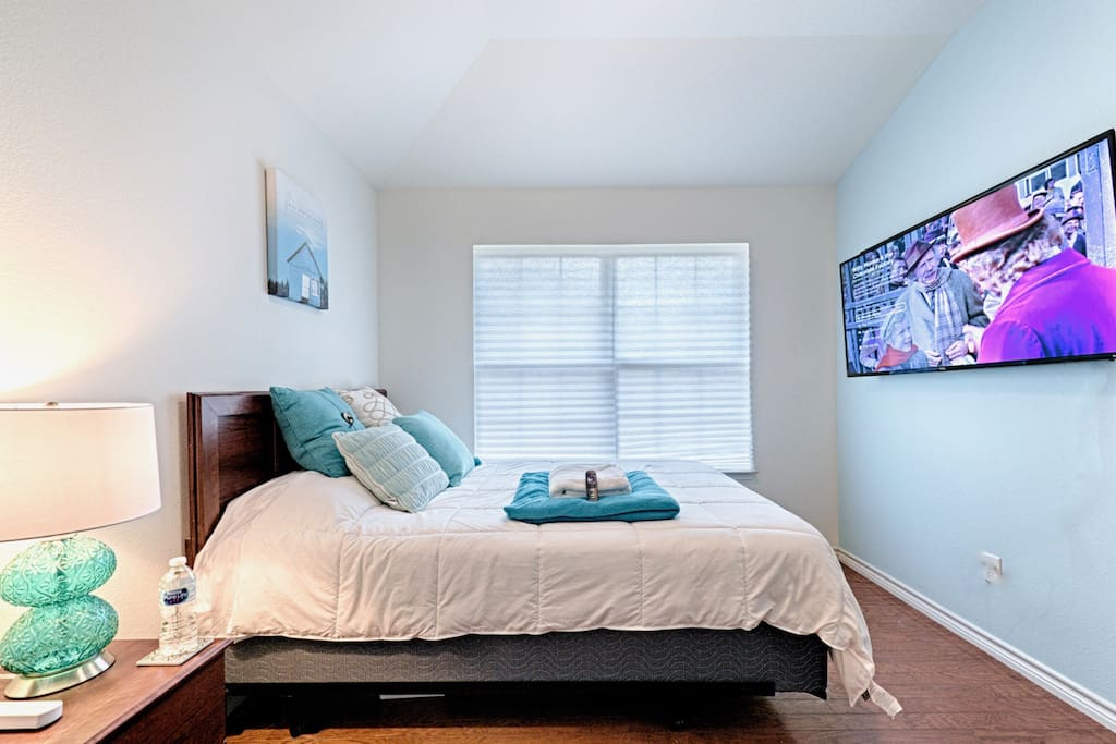 """Each bedroom features a wall-mounted 55"""" 4K TV!"""