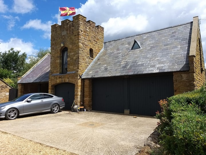 Detached coach house in rural country location.