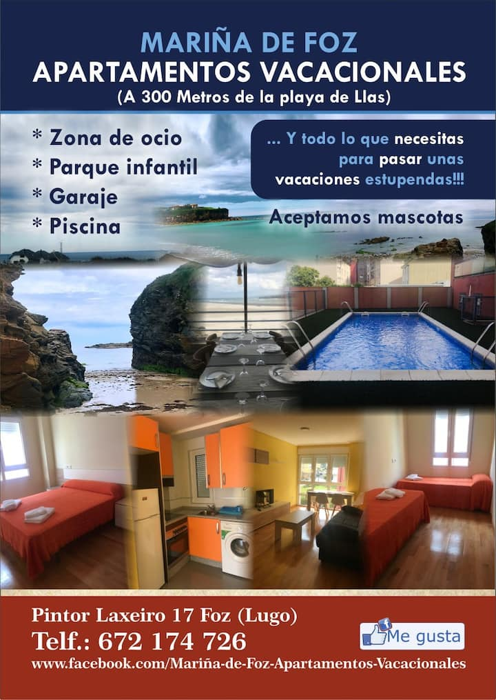 """""""Apartamentos vacacionales Mariña de Foz F"""""""