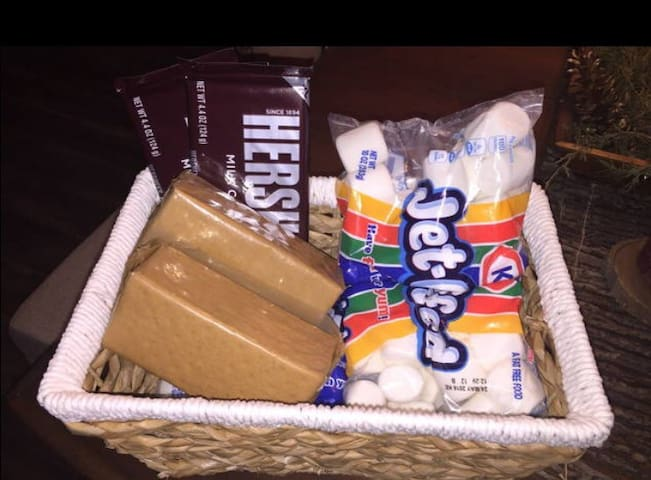 complimentary s'mores basket