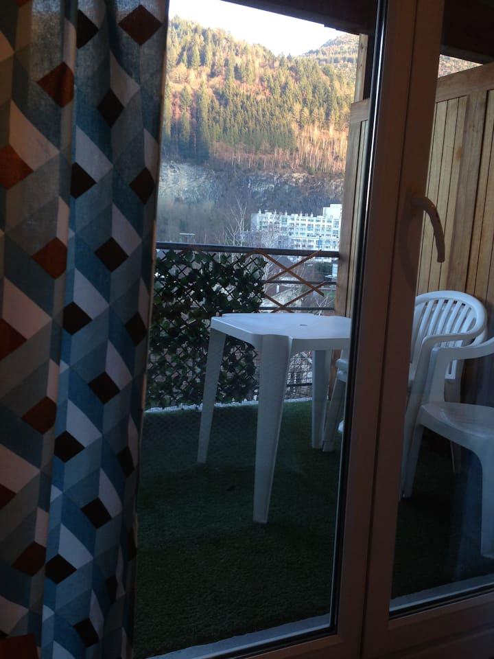 Studio plein centre avec terrasse à Lourdes