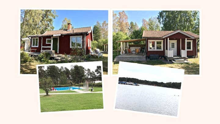 Holiday home w pool access close to sea, Nyköping