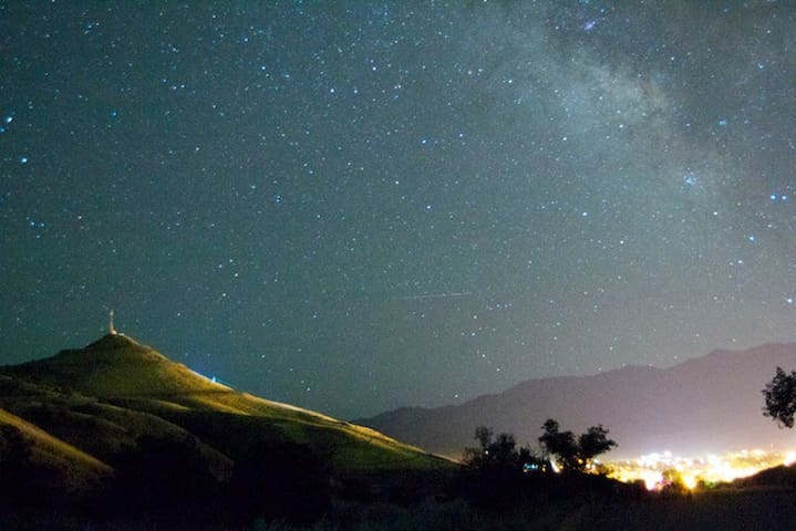 A photo I took of the stars over Salida.  The skies here really are incredible!